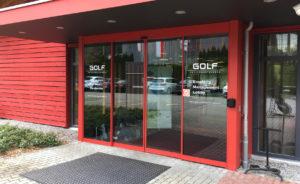 Beschriftung Eingang Glas-Türen