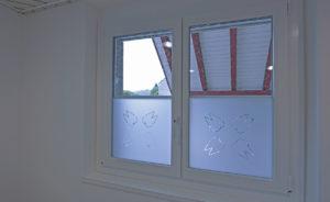 Fensterbeschriftung Sichtschutz