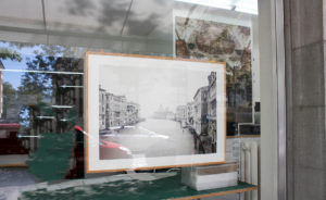 Wechselrahmen, Holzprofil Linde natur, hinter Fotoglas reflexfrei