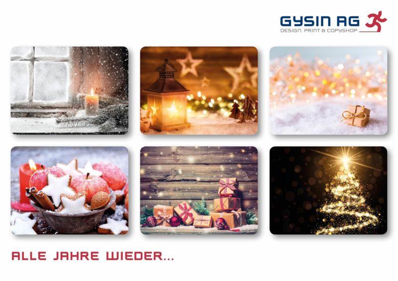 Sujet-Auswahl fuer Weihnachtskarten