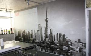 Wandgestaltung Grafikplot SK-Folie Indoor