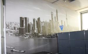 Wandbild mit bedruckter Folie