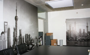 Indoor-Beschriftung Wand und Tuere Grossformat